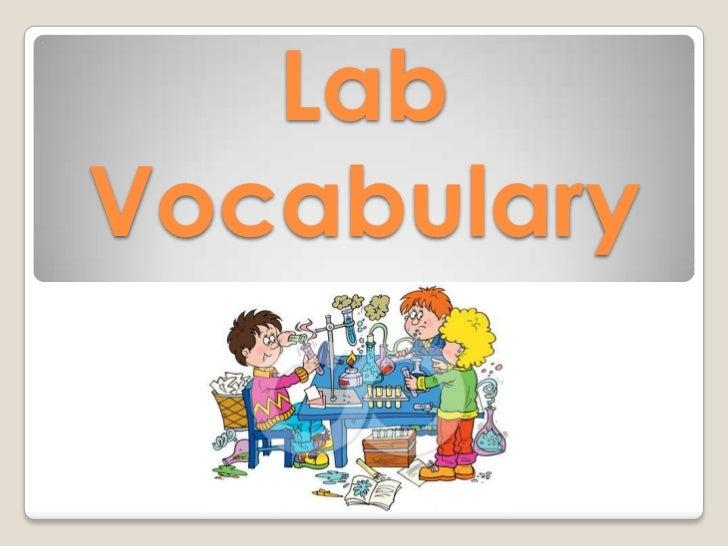 Lab vocabulary