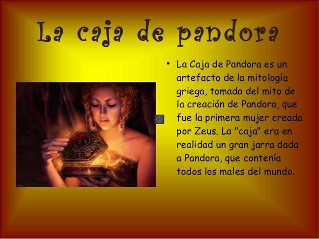 Resultado de imagen para CAJA DE PANDORA