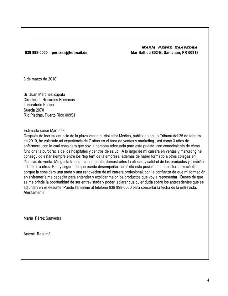 La carta de presentaci n for Ina virtual de empleo