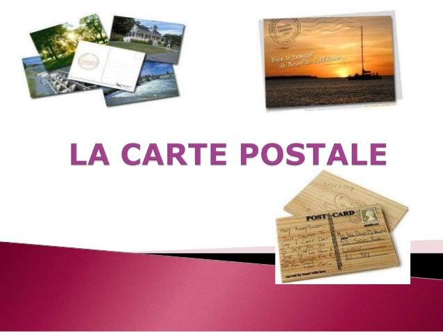 La carte postale est un moyen de correspondance écrite qui se présente sous la forme d'un morceau de papier cartonné recta...
