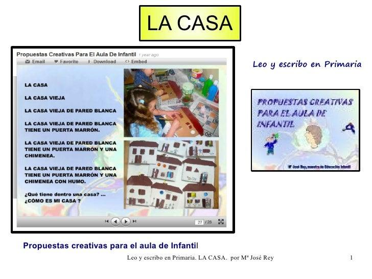 LA CASA                                                                     Leo y escribo en PrimariaPropuestas creativas ...