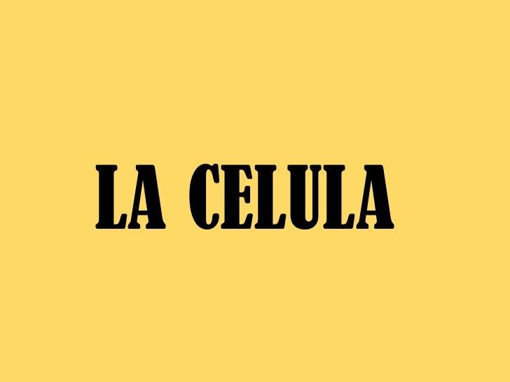 LA CELULA