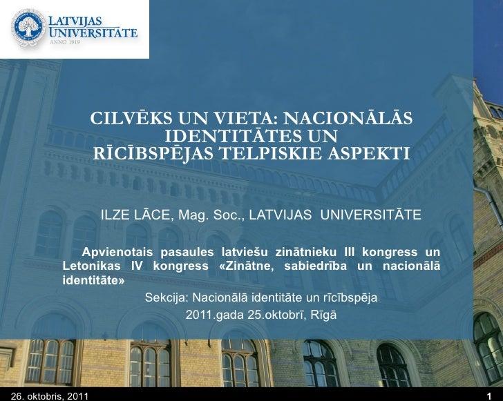 Cilvēks un vieta: nacionālās identitātes un rīcībspējas telpiskie aspekti