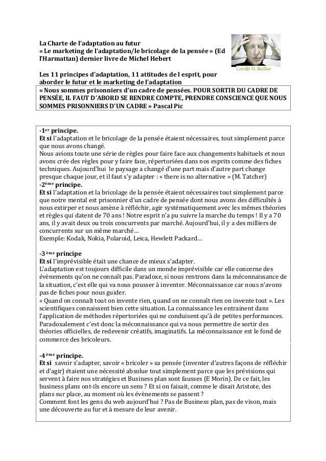 La  Charte  de  l'adaptation  au  futur   «  Le  marketing  de  l'adaptation/le  bricolage  de  ...