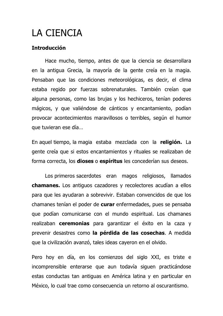 LA CIENCIA Y SU METODO
