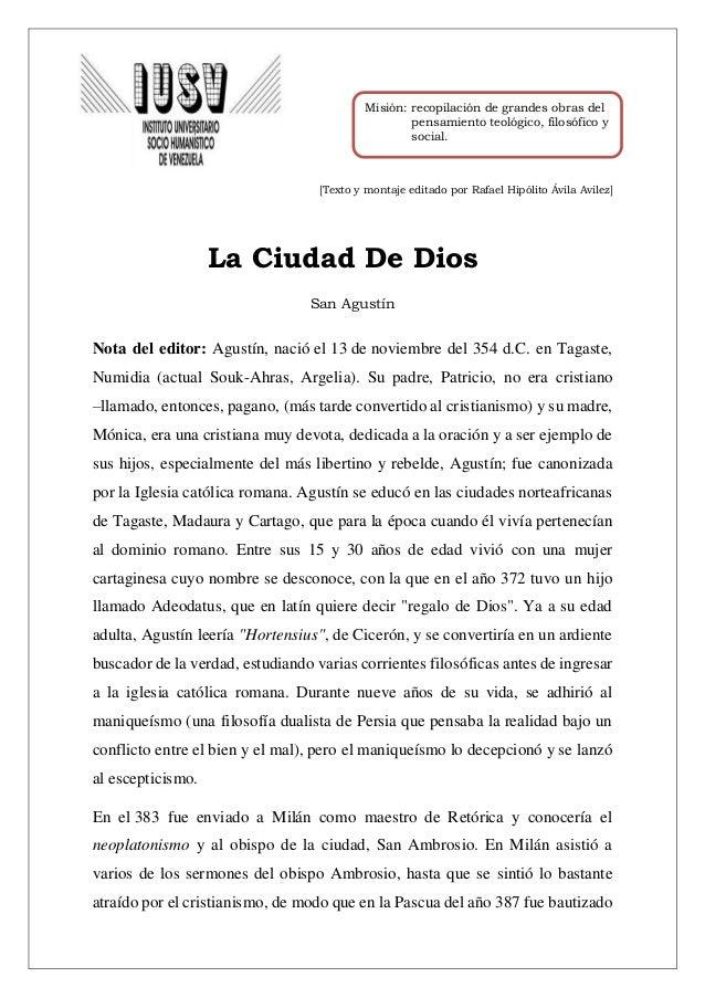 La ciudad de Dios_ Agustín de Hipona