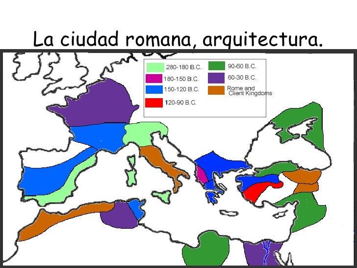 La ciudad romana, arquitectura