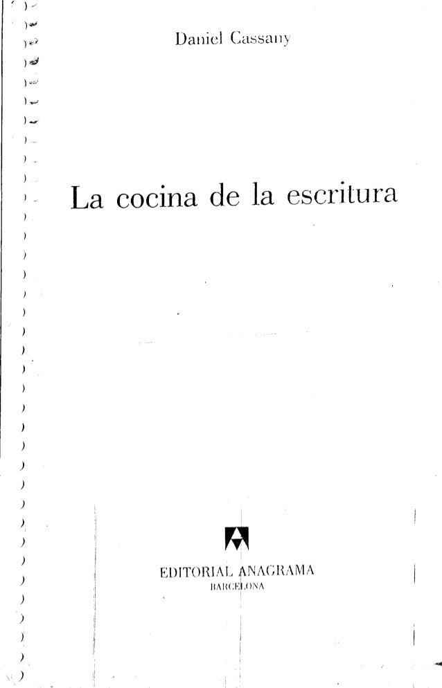 La cocina de la estructura de Daniel Cassany