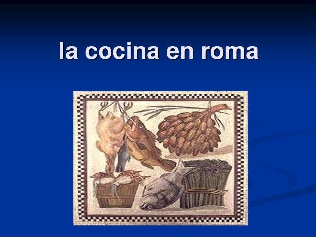 la cocina en roma