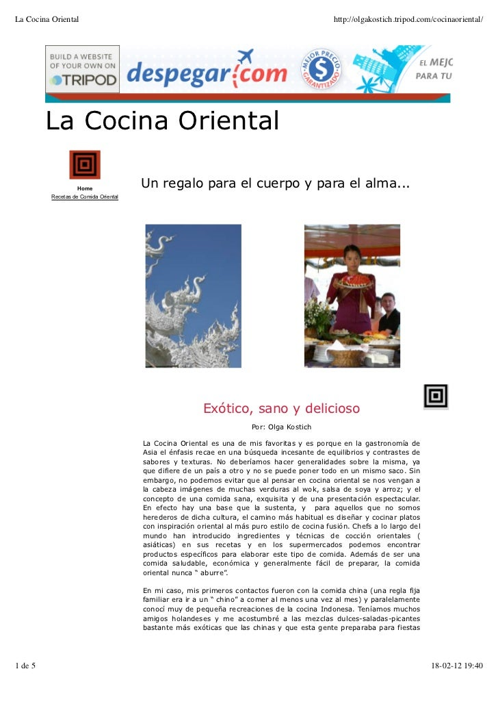 La Cocina Oriental                                                                             http://olgakostich.tripod.c...