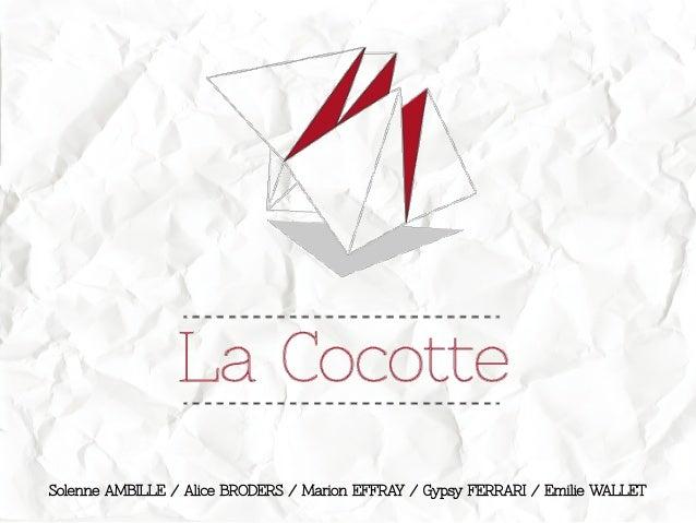 Solenne AMBILLE / Alice BRODERS / Marion EFFRAY / Gypsy FERRARI / Emilie WALLET