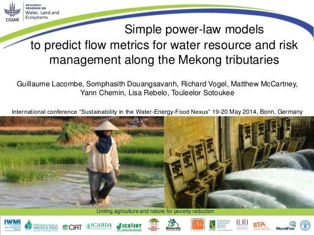 Uniting agriculture and nature for poverty reduction to predict flow metrics for water resource and risk management along ...