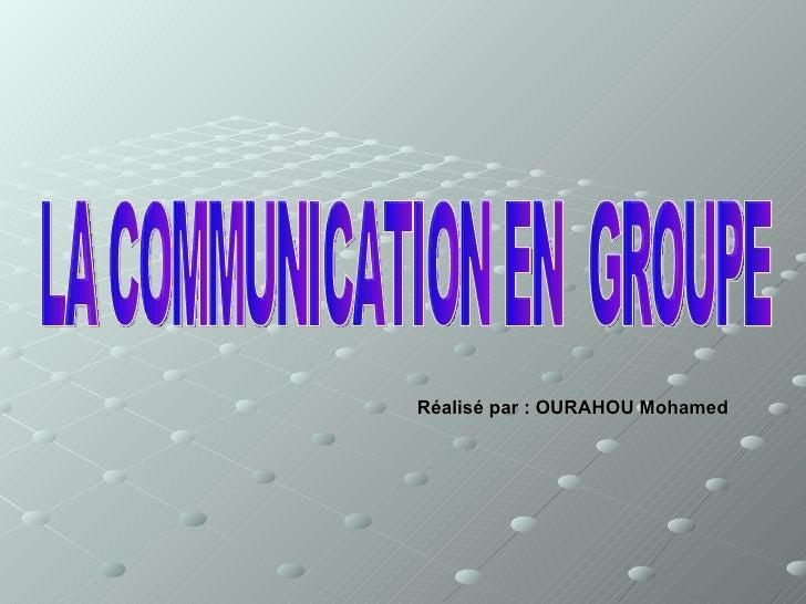 Réalisé par : OURAHOU Mohamed