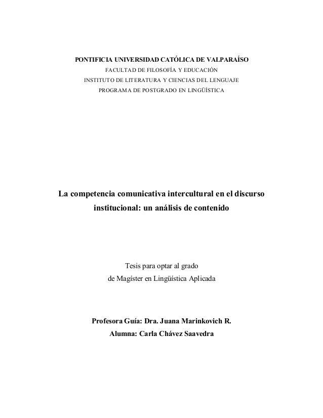 PONTIFICIA UNIVERSIDAD CATÓLICA DE VALPARAÍSO FACULTAD DE FILOSOFÍA Y EDUCACIÓN INSTITUTO DE LITERATURA Y CIENCIAS DEL LEN...