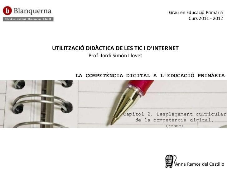 La competència digital a l'educació primària (capítol 2)