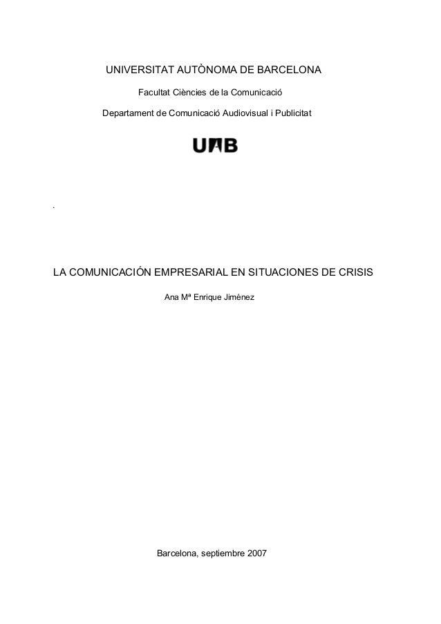 UNIVERSITAT AUTÒNOMA DE BARCELONAFacultat Ciències de la ComunicacióDepartament de Comunicació Audiovisual i PublicitatLA ...