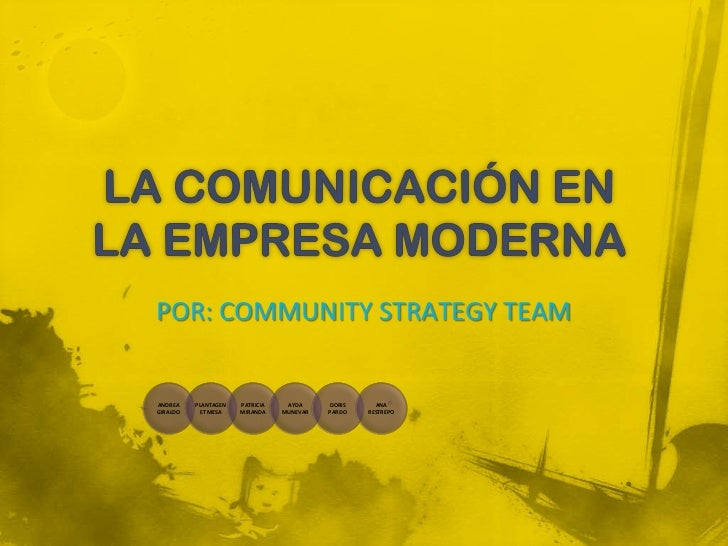 POR: COMMUNITY STRATEGY TEAMANDREA    PLANTAGEN   PATRICIA    AYDA     DORIS     ANAGIRALDO    ET MESA    MIRANDA    MUNEV...