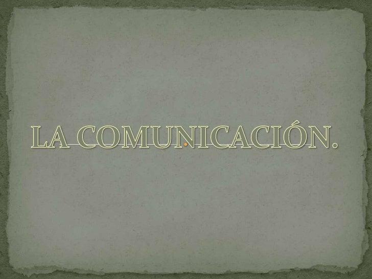  CONCEPTOS DE COMUNICACIÓN: