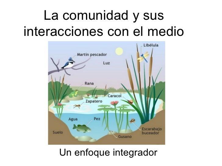 La comunidad y susinteracciones con el medio     Un enfoque integrador