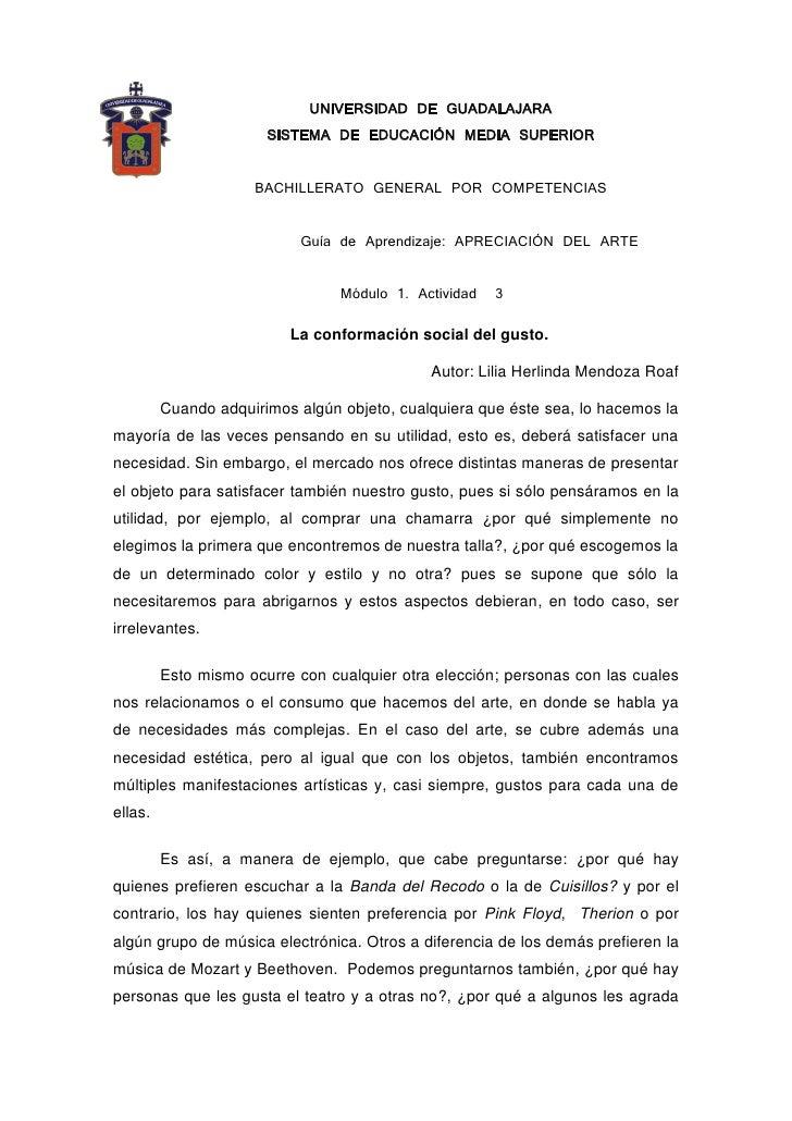UNIVERSIDAD DE GUADALAJARA                        SISTEMA DE EDUCACIÓN MEDIA SUPERIOR                        BACHILLERATO ...