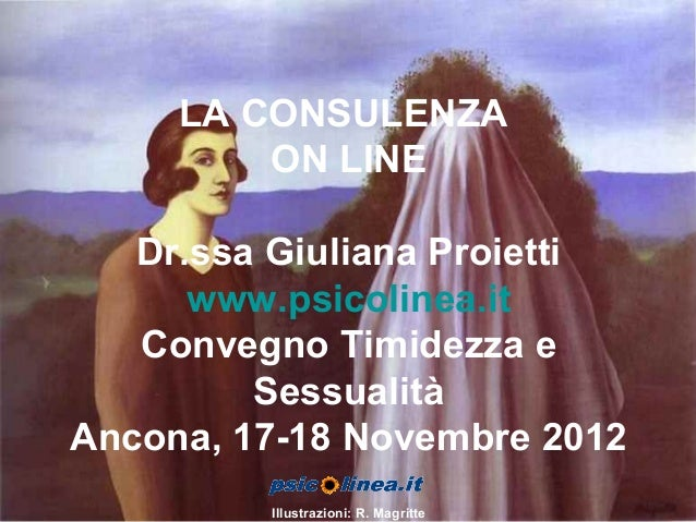 La consulenza on line Convegno Timidezza e Sessualità 17-18 Novembre 2006