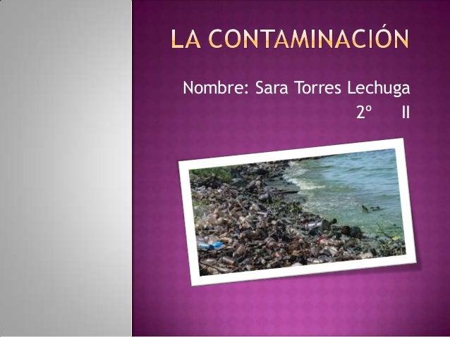 Nombre: Sara Torres Lechuga 2º II