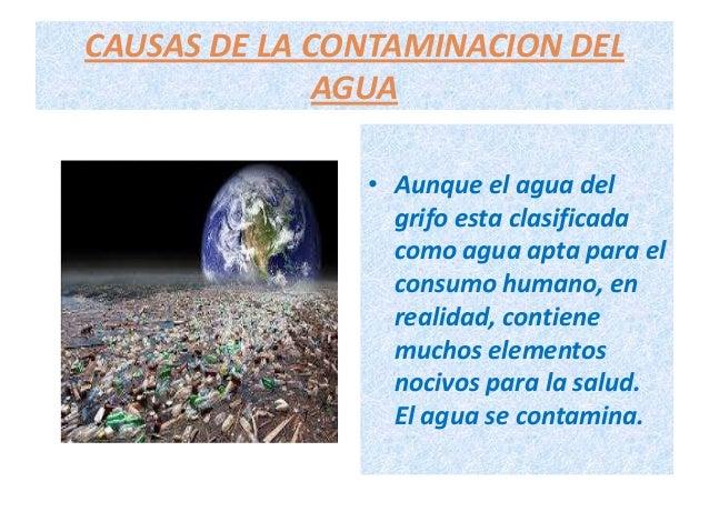 La contaminacion del agua diana for Peces de agua fria para consumo humano
