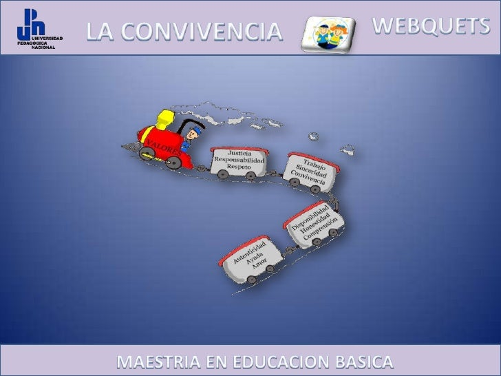 WEBQUETS<br />LA CONVIVENCIA <br />MAESTRIA EN EDUCACION BASICA<br />