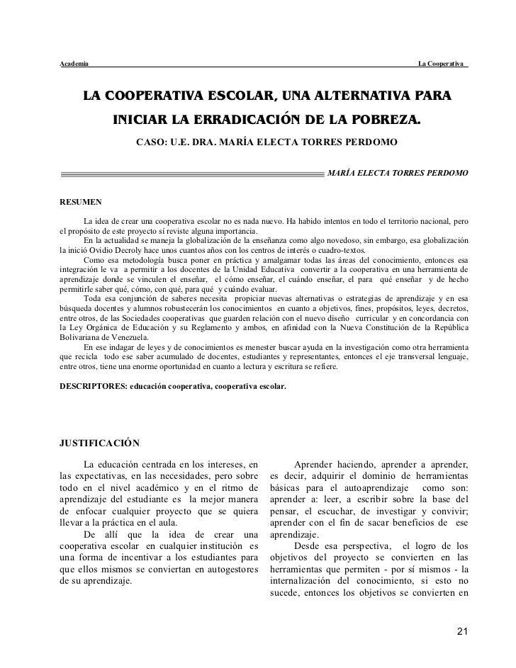 Academia                                                                                                  La Cooperativa  ...