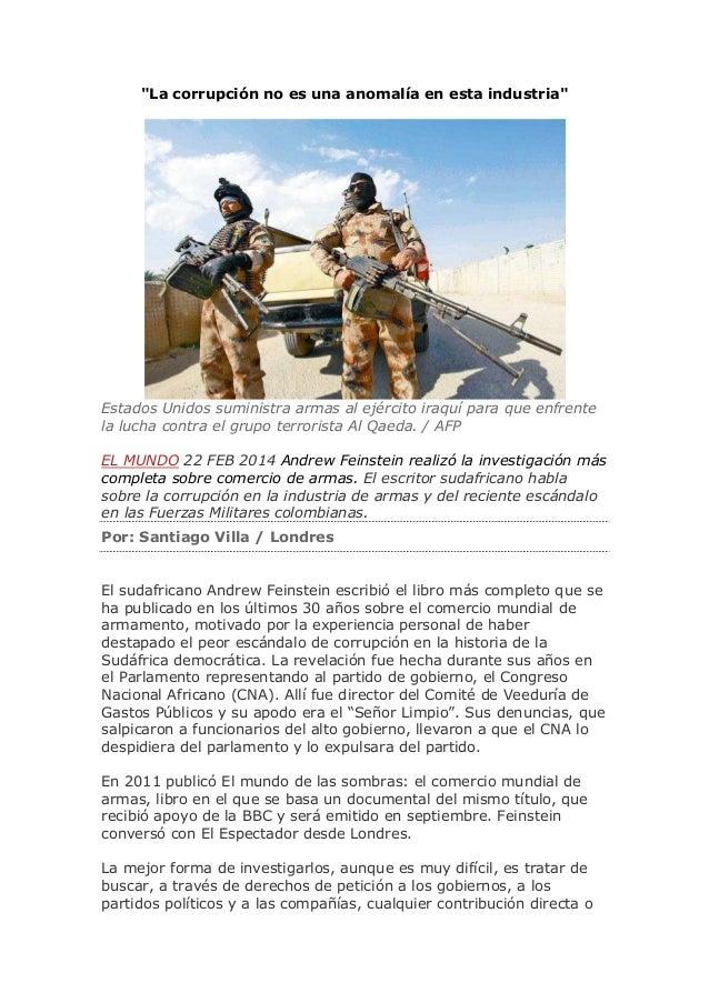 """""""La corrupción no es una anomalía en esta industria""""  Estados Unidos suministra armas al ejército iraquí para que enfrente..."""