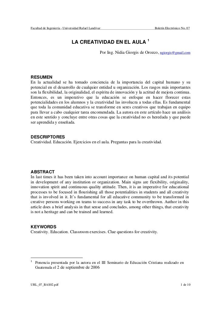 Facultad de Ingeniería - Universidad Rafael Landívar                              Boletín Electrónico No. 07              ...