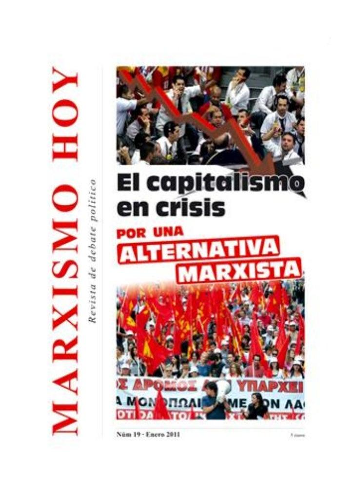 La crisis del capitalismo mundial y las tareas de los marxistas1