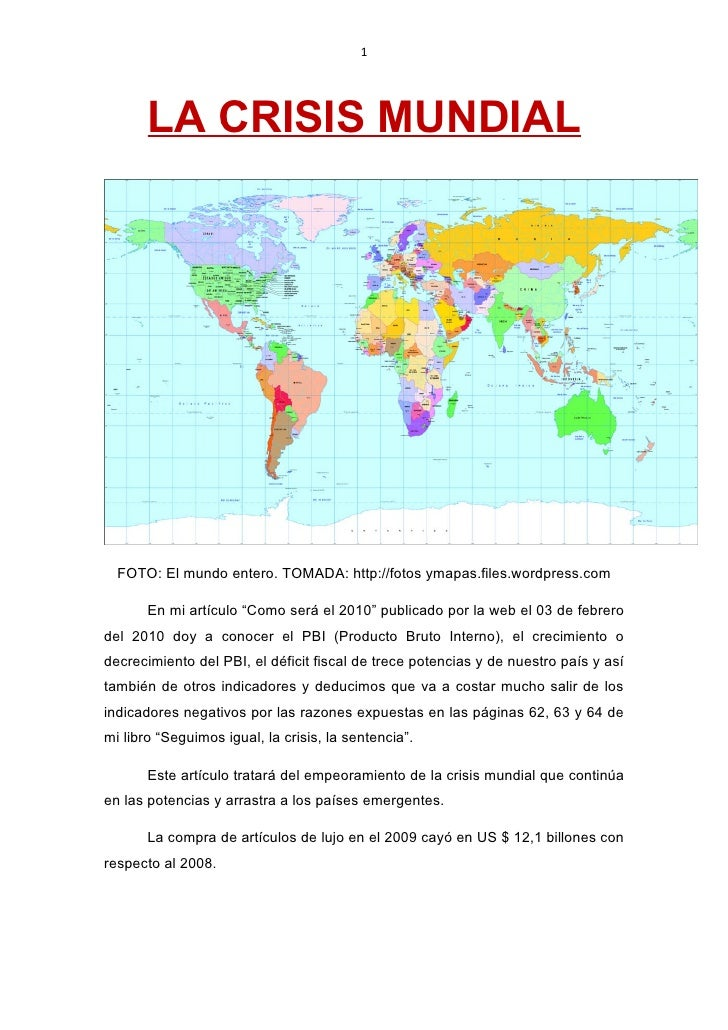 La crisis mundial