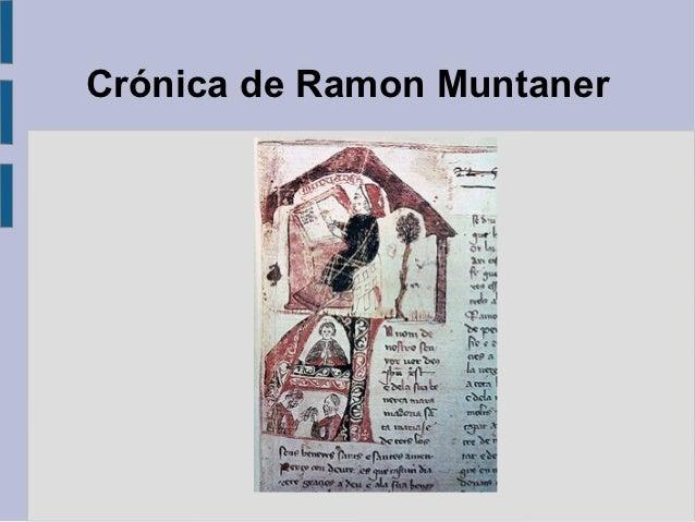 Crónica de Ramon Muntaner