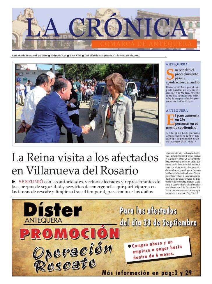 Semanario comarcal gratuito   Número 520   Año VIII   Del sábado 6 al jueves 11 de octubre de 2012                        ...