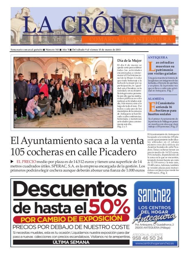 Semanario comarcal gratuito   Número 541   Año X   Del sábado 9 al viernes 15 de marzo de 2013                            ...