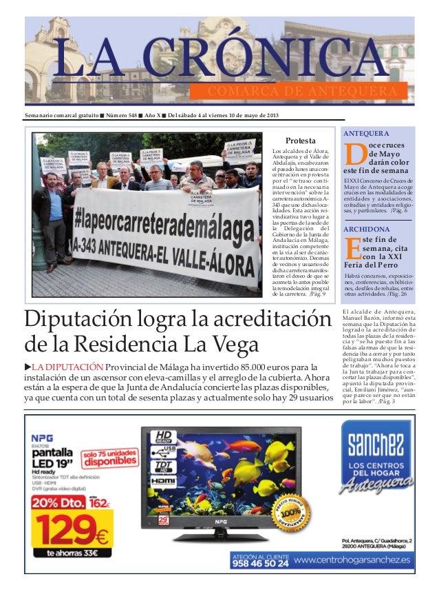 Semanario comarcal gratuito Número 548 Año X Del sábado 4 al viernes 10 de mayo de 2013Doce crucesde Mayodarán coloreste f...