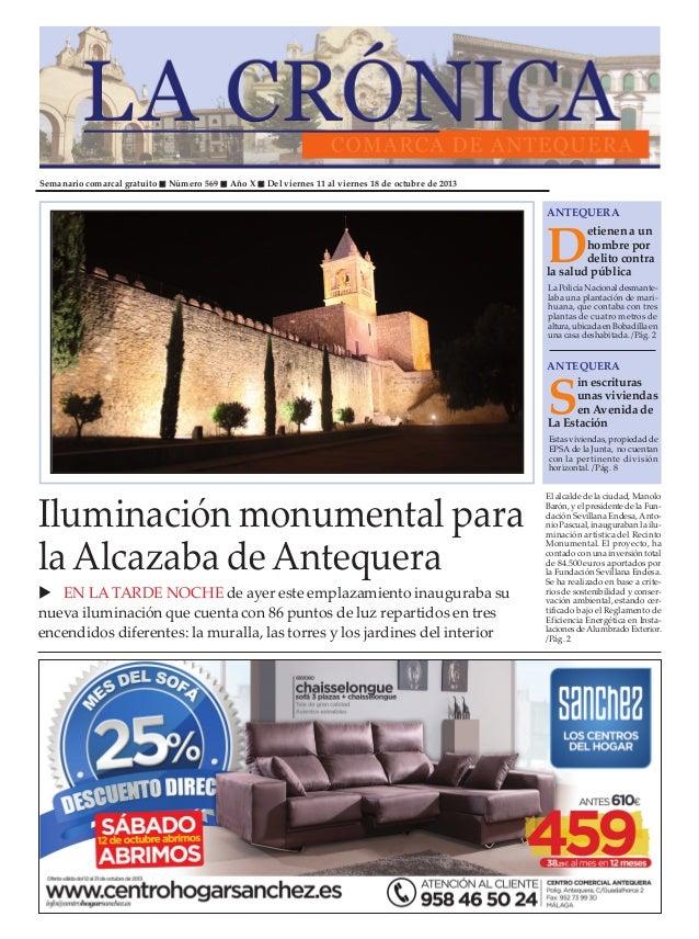 Semanario comarcal gratuito Número 569 Año X Del viernes 11 al viernes 18 de octubre de 2013 D etienenaun hombrepor delito...