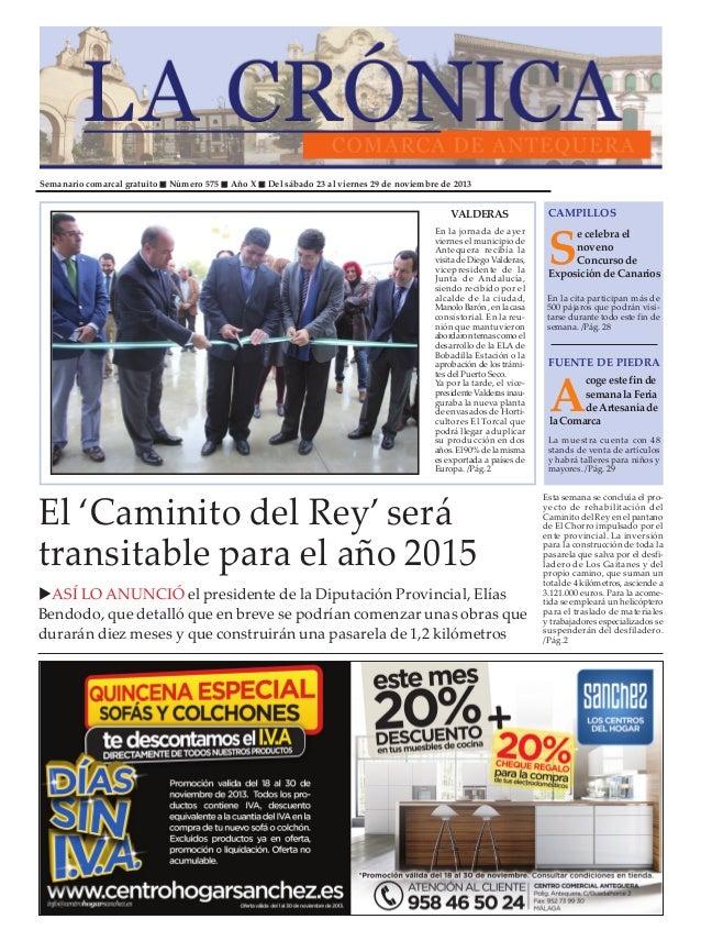 Semanario comarcal gratuito  Número 575  Año X  Del sábado 23 al viernes 29 de noviembre de 2013  VALDERAS En la jornada d...