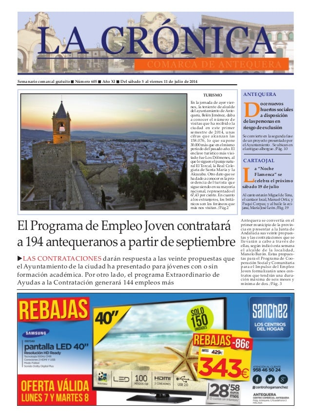 Semanario comarcal gratuito Número 605 Año XI Del sábado 5 al viernes 11 de julio de 2014 D oce nuevos huertos sociales a ...