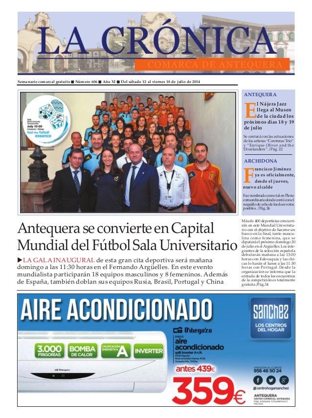 Semanario comarcal gratuito Número 606 Año XI Del sábado 12 al viernes 18 de julio de 2014 E l Nájera Jazz llega al Museo ...