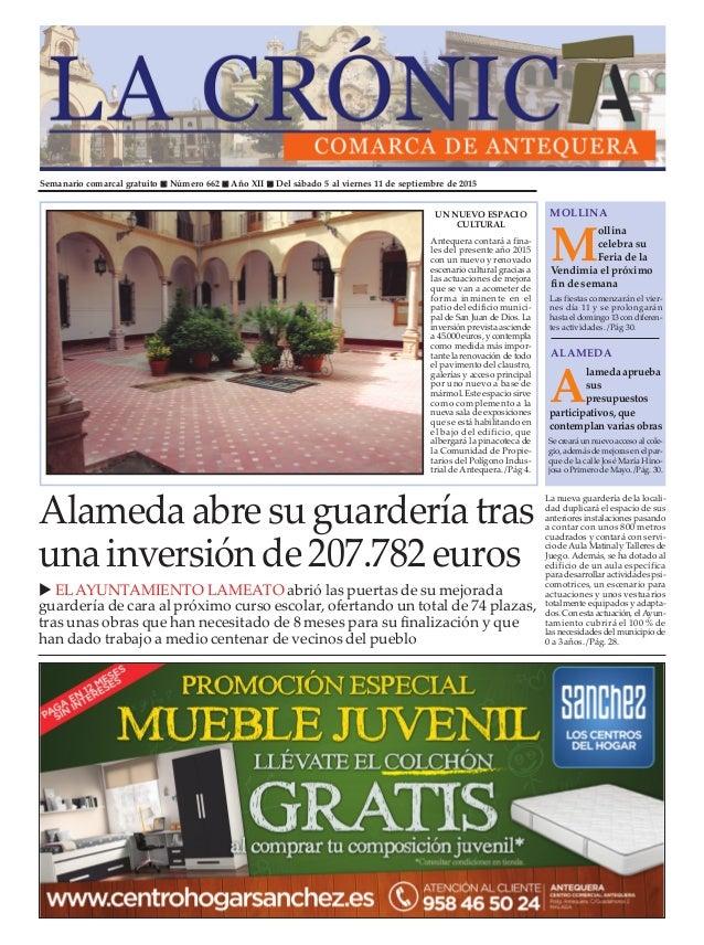 Semanario comarcal gratuito n Número 662 n Año XII n Del sábado 5 al viernes 11 de septiembre de 2015 M ollina celebra su ...