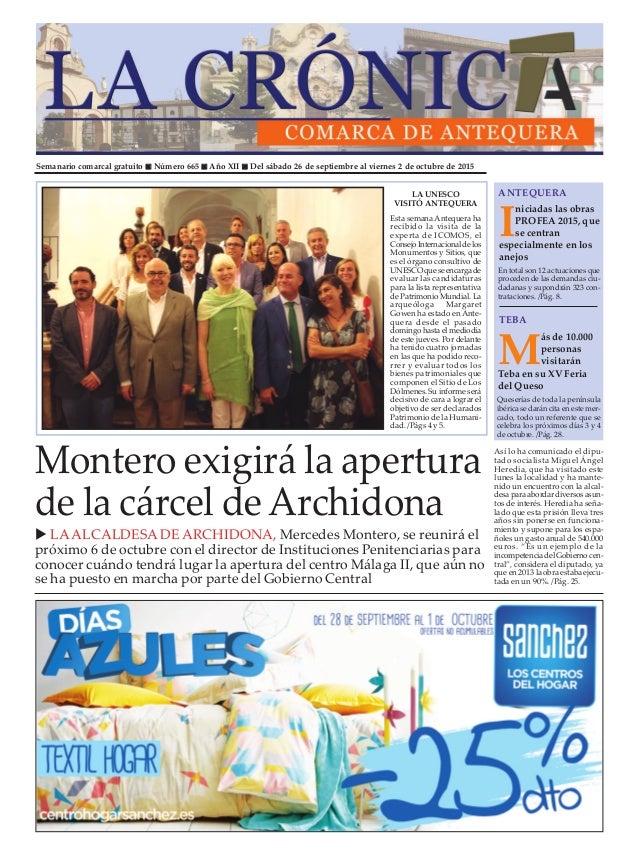 Semanario comarcal gratuito n Número 665 n Año XII n Del sábado 26 de septiembre al viernes 2 de octubre de 2015 I niciada...
