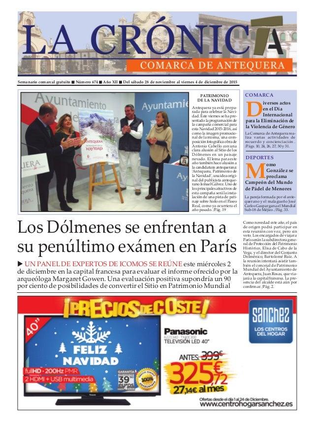 Semanario comarcal gratuito n Número 674 n Año XII n Del sábado 28 de noviembre al viernes 4 de diciembre de 2015 D iverso...