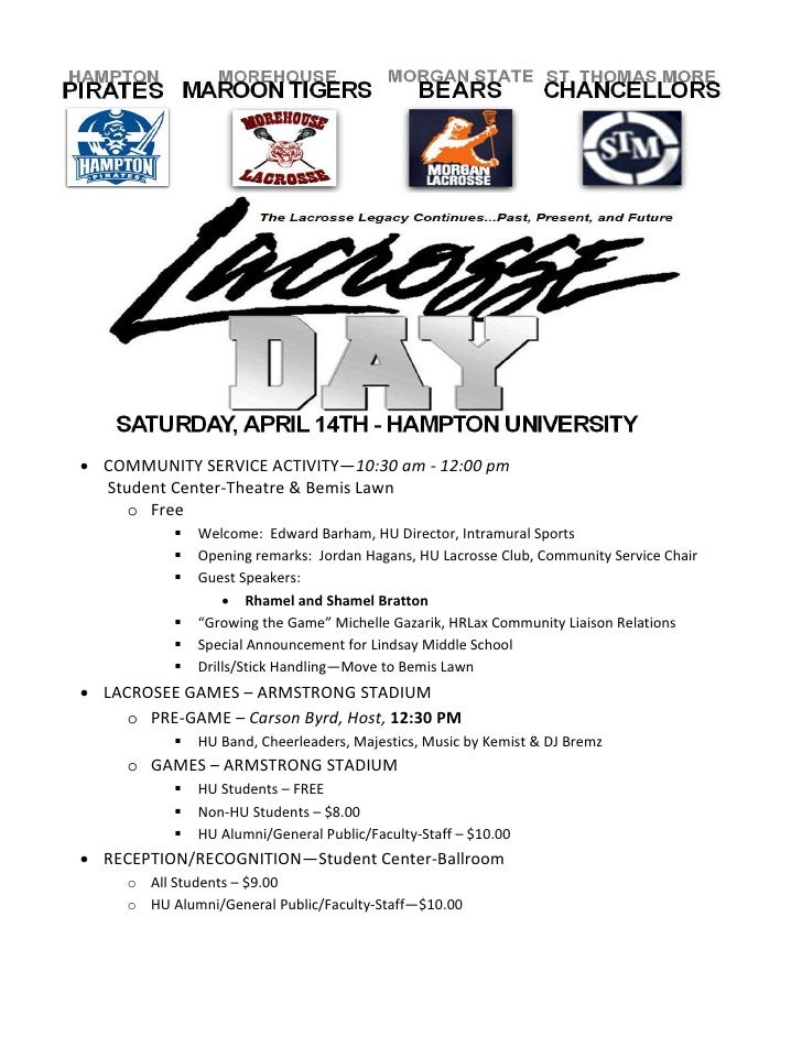 Lacrosse Day at Hampton University