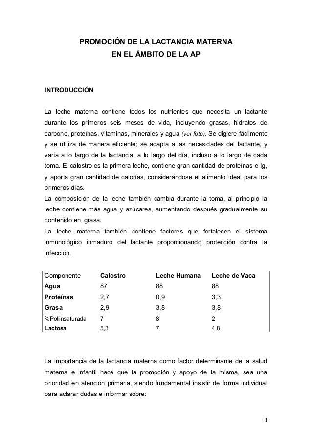 (2013-07-03) PROMOCION DE LA LACTANCIA MATERNA EN EL AMBITO DE A.P.