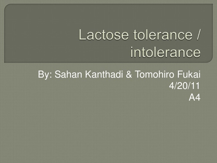 Lactose tolerance