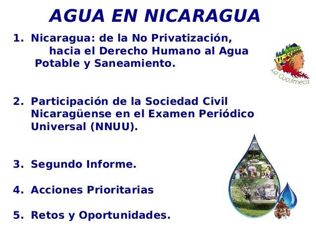 Estado de la lucha por el derecho al agua en Nicaragua