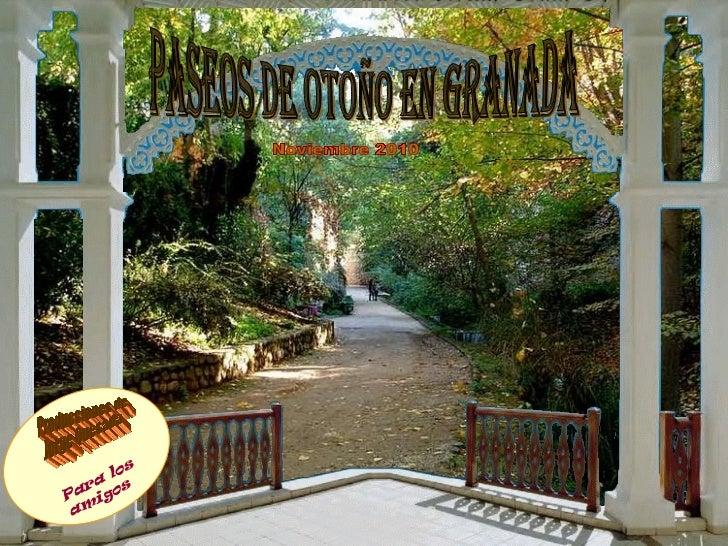 paseos de otoño en granada Noviembre 2010 Producciones de Jorge Quesada Para los amigos