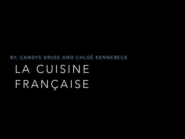 La cuisine de français
